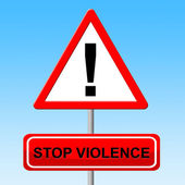 Stop Violence Means Brutishness. Violent And Brute — Stock Photo
