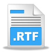 Rtf File Indicates Organized Archiving And Correspondence — Foto de Stock