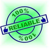 Hundred Percent Reliable Indicates Absolute Relying And Completely — Stock Photo