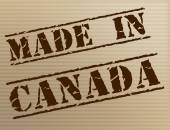Made In Canada Represents Manufacturer Manufacturing And Export — Stock Photo