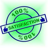 Hundred Percent Satisfaction Indicates Contentment Gratification And Absolute — Stok fotoğraf