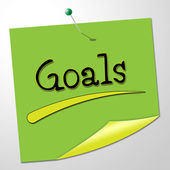 Goals Note Shows Aspire Message And Targeting — Stock Photo