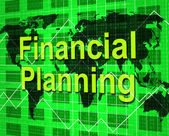 Financial Planning Shows Goal Trading And Aspirations — Stock Photo