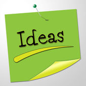 Ideas Note Means Creative Messages And Conception — Stock Photo