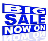Big Sale Represents At The Moment And Closeout — Stock Photo