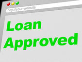 Loan Approved Indicates Advance Assurance And Passed — Stock Photo