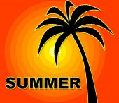 Summer Time Indicates Season Positive And Warmth — Foto Stock