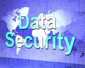 Data Security Means Protect Encrypt And Fact — Stock Photo