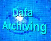 Data Archiving Shows Fact Documentation And Storage — Stock Photo