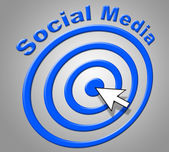 Social Media Represents World Wide Web And Net — Stock Photo
