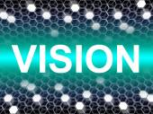 Vision Word Represents Planning Forecasting And Objectives — Stock Photo