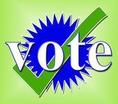 Vote Tick Means All Right And Ok — Stock Photo