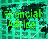 Financial Advice Indicates Help Answers And Earnings — Stock Photo