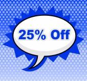 Twenty Five Percent Represents Merchandise Promo And Cheap — Stock Photo