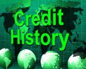 Credit History Represents Debit Card And Bankcard — Stock Photo