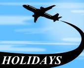 Holidays Plane Represents Go On Leave And Air — Stock Photo