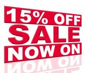 Fifteen Percent Off Shows At This Time And Closeout — Stock Photo