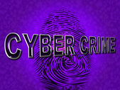 Cyber Crime Shows Malware Threat And Malicious — Stock Photo
