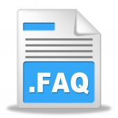 Faq File Shows Frequently Asked Questions And Administration — Foto Stock