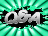 Q And A Indicates Frequently Asked Questions And Knowhow — Stock Photo