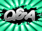 Q And A Indicates Frequently Asked Questions And Knowhow — Foto Stock