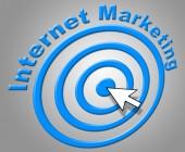 Internet Marketing Shows World Wide Web And Advertising — ストック写真