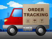 Order Tracking Shows Logistic Trace And Shipping — Stock Photo