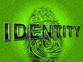 Identity Fingerprint Represents Log Ins And Brand — Stock Photo