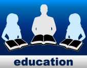 Education Books Represents Studying Development And Training — Stock Photo