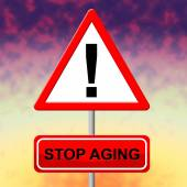Stop Aging Shows Stay Young And Degenerative — Stock Photo