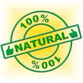 Hundred Percent Natural Represents Absolute Organic And Nature — Zdjęcie stockowe