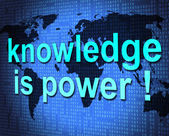 Knowledge Is Power Shows Expertness Comprehension And Tutoring — Stock Photo