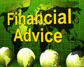 Financial Advice Indicates Business Help And Finances — Stock Photo