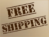 Free Shipping Shows With Our Compliments And Courier — Stock Photo