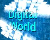 Digital World Represents Hi Tech And Data — Stock Photo