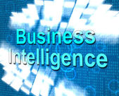 Business Intelligence Shows Know How And Biz — Stock Photo