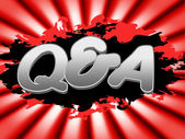 Q And A Means Frequently Asked Questions And Faqs — Stock Photo
