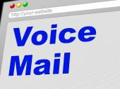 Voice Mail Represents Message System And Communicate — Stok fotoğraf