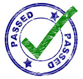Passed Stamp Indicates All Right And Ok — Stock Photo