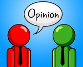 Opinion Conversation Indicates Point Of View And Assumption — Zdjęcie stockowe