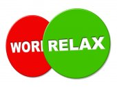 Relax Sign Indicates Resting Recreation And Rest — Foto Stock