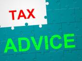 Tax Advice Shows Duties Duty And Taxpayer — Zdjęcie stockowe