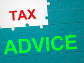 Tax Advice Shows Duties Duty And Taxpayer — Stock Photo