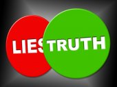 Truth Sign Indicates No Lie And Correct — Stock Photo