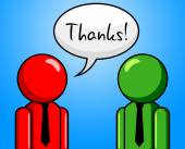 Thanks Conversation Represents Chit Chat And Chinwag — Stock Photo