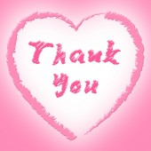 Thank You Shows Heart Shapes And Grateful — Stock Photo