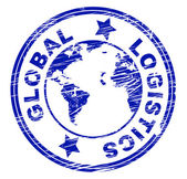 Global Logistics Represents Coordination Globally And Strategies — Foto de Stock