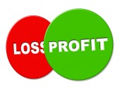 Profit Sign Means Earning Lucrative And Earnings — Stock Photo