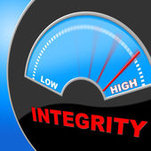 Integrity High Shows Trust Decency And Inflated — Foto de Stock