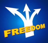 Freedom Arrows Indicates Break Out And Escape — Stock Photo